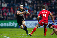 Francois Louw of Bath Rugby in possession. Heineken Champions Cup match, between Stade Toulousain and Bath Rugby on January 20, 2019 at the Stade Ernest Wallon in Toulouse, France. Photo by: Patrick Khachfe / Onside Images