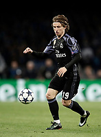 Football Soccer: UEFA Champions League Round of 16 second leg, Napoli-Real Madrid, San Paolo stadium, Naples, Italy, March 7, 2017. <br /> Real Madrid's Luka Modric in action during the Champions League football soccer match between Napoli and Real Madrid at the San Paolo stadium, 7 March 2017. <br /> Real Madrid won 3-1 to reach the quarter-finals.<br /> UPDATE IMAGES PRESS/Isabella Bonotto