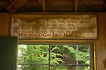 Fleck Property, Old Camp Allagash annex camp.old prayer on kitchen cabin wall