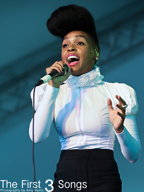 Janelle Monae performs during the 2010 Voodoo Experience in New Orleans, Louisiana.