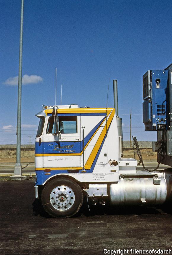 Trucks: Tucumcari NM Truck Stop, 1980.