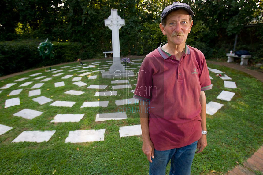 """Bob Estep of West Virginia, 64, said he takes a bus two or three times a year to Marietta to stay by the grave of JonBenet Ramsey for anywhere from two weeks to two months. Estep said he slept by the grave in 1998, but was run off by local police in 1999. """"I like it here, it's nice and peaceful,""""  he said, adding that he did not know anyone in the Ramsey family before he began making his pilgrimages."""
