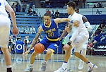 January 14, 2017:  San Jose State guard, Jalen James #21, scrambles to control a loose ball during the NCAA basketball game between the San Jose State Spartans and the Air Force Academy Falcons, Clune Arena, U.S. Air Force Academy, Colorado Springs, Colorado.  San Jose State defeats Air Force 89-85.