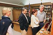 Camp David, MD - July 15, 1999 -- Clintons and Baraks at Camp David on Thursday, 15 July, 1999. (L-R) United States  First Lady Hillary Rodham Clinton, Prime Minister Ehud Barak of Israel, Mrs. Nava Barak, U.S. President Bill Clinton..Mandatory Credit: Sharon Farmer / White House via CNP
