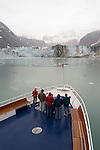 Alaska, Glacier Bay National Park..At Johns Hopkins Glacier..Cruise on Spirit of Discovery..Photo copyright Lee Foster, 510/549-2202, lee@fostertravel.com, www.fostertravel.com..