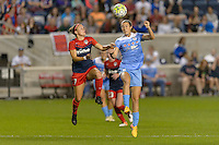 Chicago, IL - Saturday Sept. 24, 2016: Christine Nairn, Katie Naughton during a regular season National Women's Soccer League (NWSL) match between the Chicago Red Stars and the Washington Spirit at Toyota Park.