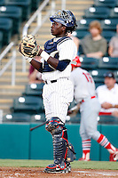 July 13, 2009:  Catcher Jair Fernandez of the Fort Myers Miracle during a game at Hammond Stadium in Ft. Myers, FL.  Ft. Myers is the Florida State League High-A affiliate of the Minnesota Twins.  Photo By Mike Janes/Four Seam Images