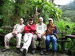 Alfonso Lario,Juanjo Segura,carlos Alfaro y Alfredo Maiquez four friends and photographers at Los Quetzales cabins, Chiriqui province, Panama, central America