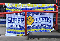 Leeds United fans banner<br /> <br /> Photographer David Horton/CameraSport<br /> <br /> The EFL Sky Bet Championship - Bristol City v Leeds United - Saturday 9th March 2019 - Ashton Gate Stadium - Bristol<br /> <br /> World Copyright © 2019 CameraSport. All rights reserved. 43 Linden Ave. Countesthorpe. Leicester. England. LE8 5PG - Tel: +44 (0) 116 277 4147 - admin@camerasport.com - www.camerasport.com