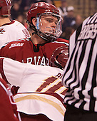 Sean Malone (Harvard - 17) - The Boston College Eagles defeated the Harvard University Crimson 3-2 in the opening round of the Beanpot on Monday, February 1, 2016, at TD Garden in Boston, Massachusetts.