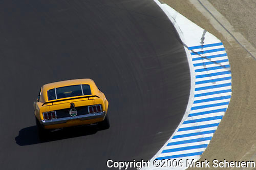 33rd Rolex Monterey Historic Races, 2006<br /> <br /> Dan Lipetz races his 1970 Ford Boss 302 Mustang at the 2006 Rolex Monterey Historic Automobile Races.