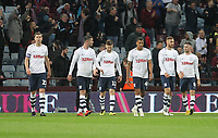 Preston North End's players look dejected as Aston Villa equalise at 3-3<br /> <br /> Photographer Mick Walker/CameraSport<br /> <br /> The EFL Sky Bet Championship - Aston Villa v Preston North End - Tuesday 2nd October 2018 - Villa Park - Birmingham<br /> <br /> World Copyright &copy; 2018 CameraSport. All rights reserved. 43 Linden Ave. Countesthorpe. Leicester. England. LE8 5PG - Tel: +44 (0) 116 277 4147 - admin@camerasport.com - www.camerasport.com