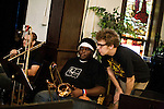 September 14, 2010.  Durham, North Carolina.. Bryan Hooten, Reggie Pace and Phil Cook.. Day One of Sounds of the South, a reinterpretation of Alan Lomax's field recordings, with music by Megafaun, Fight the Big Bull, Sharon Van Etten and Justin Vernon of Bon Iver..