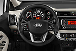Car pictures of steering wheel view of a 2016 KIA Rio LX-AT 4 Door Sedan Steering Wheel