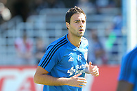 San Jose, CA - Saturday July 29, 2017: Andres Imperiale prior to a Major League Soccer (MLS) match between the San Jose Earthquakes and Colorado Rapids at Avaya Stadium.