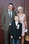 Dean Hetherington with Liam and Carol at the St. Marys Congress Avenue Communion in St. Marys Church...Photo NEWSFILE/Jenny Matthews.(Photo credit should read Jenny Matthews/NEWSFILE)....This Picture has been sent you under the condtions enclosed by:.Newsfile Ltd..The Studio,.Millmount Abbey,.Drogheda,.Co Meath..Ireland..Tel: +353(0)41-9871240.Fax: +353(0)41-9871260.GSM: +353(0)86-2500958.email: pictures@newsfile.ie.www.newsfile.ie.FTP: 193.120.102.198.