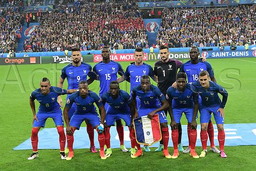 03.07.2016. St Denis, Paris, France. UEFA EURO 2016 quarter final match between France and Iceland at the Stade de France in Saint-Denis, France, 03 July 2016. Team France