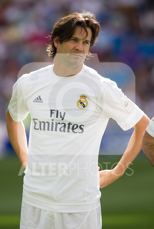 Santiago Solari during the Corazon Classic Match 2016 at Estadio Santiago Bernabeu between Real Madrid Legends and Ajax Legends. Jun 5,2016. (ALTERPHOTOS/Rodrigo Jimenez)