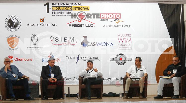 1er Foro Internacional de Seguridad Integral en Mineria, organizado por Cluster Minero de Sonora. 26 Abril 2018.<br /> <br /> (Foto: NortePhoto)