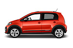 Car driver side profile view of a 2018 Volkswagen Up Cross Up 5 Door Hatchback