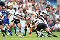 Elliott Stooke of England takes on the Barbarians defence. Quilter Cup International match between England and the Barbarians on May 27, 2018 at Twickenham Stadium in London, England. Photo by: Patrick Khachfe / Onside Images
