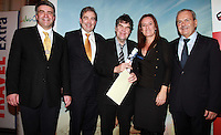 Repro Free.Eoghan Corry Travel Extra, Gonzalo Ceballos Director Spanish Tourist Office, Mal Rogers The irish Post, Coro Miguel and Benet Presas Coun Journcellor of Tourism Salou..Mal Rogers winner of the Spain Journalist Journalist of the Year Award sponsored by The Spanish Tourist Board .Travel Extra,Travel Journalist of the Year Awards at the Thomas Prior House Ballsbridge. The event which was sponsored by The Spanish Tourist board gave out 12 awards for different catagories. .This year saw a huge increase in the number of submissions from previous years, displaying the creativity and continuning innovation of travel and tourism journalism in Ireland..Collins Photos 25/1/13