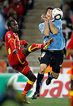 Hans Sarpei, Luis Suarez, Soccer, Football - 2010 FIFA World Cup - Johannesburg, South Africa, Friday, July, 02,  2010. Uruguay vs Ghana, Round of 8, Quarter-finals, Soccer City Stadium (credit & photo: Pedja Milosavljevic / +381 64 1260 959 / thepedja@gmail.com / STARSPORT )