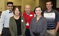 NWA Democrat-Gazette/CARIN SCHOPPMEYER Jose Rodriquez (from left), Ann Turner, Ed Clifford, Jessie Wagner and Jonathan Gilbert enjoy the NWACC luncheon.