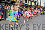 The Irwin School of dancers  at the Killarney St Patricks Day parade on Sunday ..