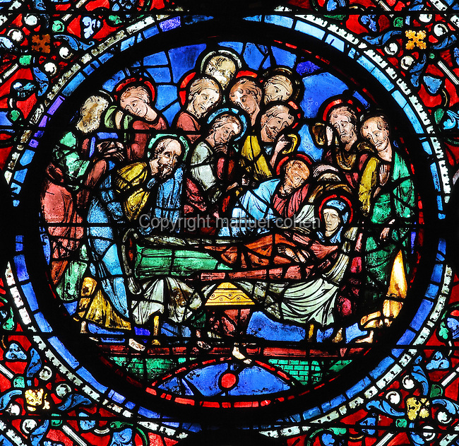 Glorification of the Virgin stained glass window, Chartres ...