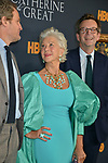 "Jason Clarke, Helen Mirren, Philip Martin 039 attends the Los Angeles Premiere Of The New HBO Limited Series ""Catherine The Great"" at The Billy Wilder Theater at the Hammer Museum on October 17, 2019 in Los Angeles, California."