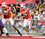 MADISON, WI - SEPTEMBER 9: Punter Ken DeBauche #94 of the Wisconsin Badgers punts the ball against the Western Illinois Leathernecks at Camp Randall Stadium on September 9, 2006 in Madison, Wisconsin. The Badgers beat the Leathernecks 34-10. (Photo by David Stluka)