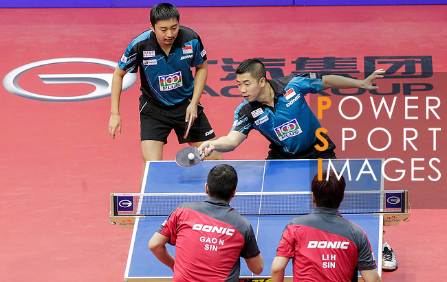 Athelete in action during the GAC Group 2013 ITTF World Tour Grand Finals at the Al Nasr Sports Club on January 10, 2014 in Dubai, United Arab Emirates. Photo by Alan Siu / Power Sport Images