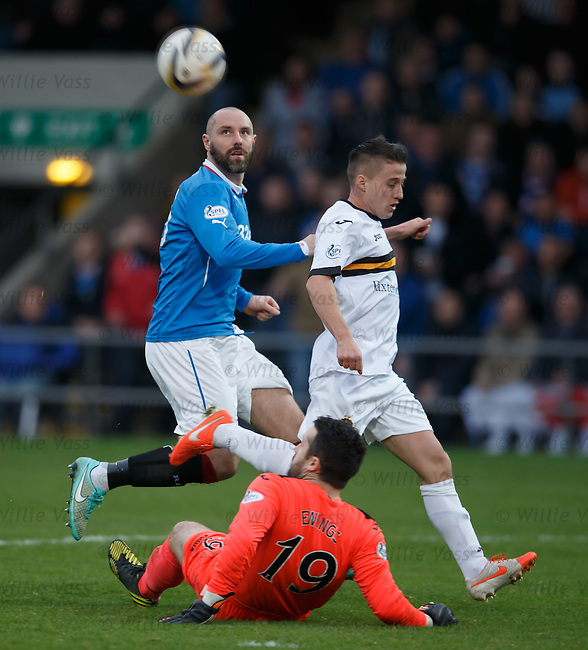 Jamie Ewings saves from Kris Boyd