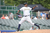 Trenton Thunder pitcher Francisco Rondon (32) during game against the Binghamton Mets at ARM & HAMMER Park on July 27, 2014 in Trenton, NJ.  Trenton defeated Binghamton 7-3.  (Tomasso DeRosa/Four Seam Images)