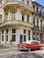 HAVANA-CUBA - 09.10.2016:  carro no bairro de Havana Velha, na capital cubana. (Foto: Bete Marques/Brazil Photo Press)