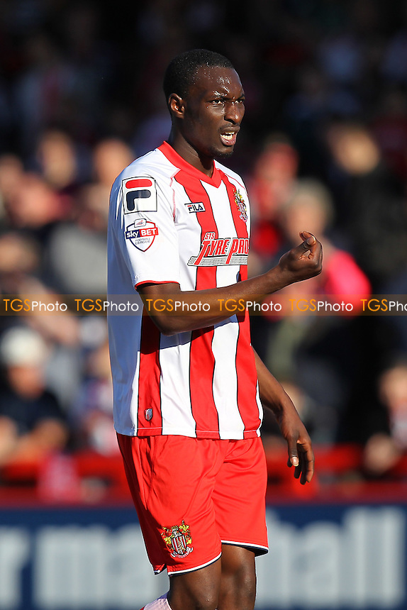 Bira Dembele in action for Stevenage - Stevenage vs Newport County - Sky Bet League Two Football at the Lamex Stadium, Broadhall Way, Stevenage - 07/03/15 - MANDATORY CREDIT: Gavin Ellis/TGSPHOTO - Self billing applies where appropriate - contact@tgsphoto.co.uk - NO UNPAID USE