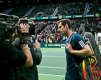 Rotterdam, The Netherlands. 13.02.2014. ABN AMRO World tennis Tournament, Andy Murray(GRB)<br /> Photo:Tennisimages/Henk Koster