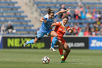 Bridgeview, IL - Saturday May 06, 2017: Vanessa DiBernardo, Amber Brooks during a regular season National Women's Soccer League (NWSL) match between the Chicago Red Stars and the Houston Dash at Toyota Park.