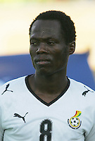 Ghana's Emanuel Agyemang-Badu (8) stands on the field before the match against South Korea during the FIFA Under 20 World Cup Quarter-final match at the Mubarak Stadium  in Suez, Egypt, on October 09, 2009.