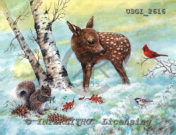 GIORDANO, CHRISTMAS ANIMALS, WEIHNACHTEN TIERE, NAVIDAD ANIMALES, paintings+++++,USGI2616,#XA#