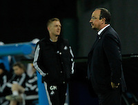 Rafael Benitez <br /> <br />  UEFA Europa League round of 32 second  leg match, betweenAC  Napoli  and Swansea City   at San Paolo stadium in Naples, Feburary 27 , 2014