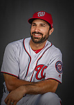 22 February 2019: Washington Nationals outfielder Adam Eaton poses for his Photo Day portrait at the Ballpark of the Palm Beaches in West Palm Beach, Florida. Mandatory Credit: Ed Wolfstein Photo *** RAW (NEF) Image File Available ***