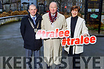 Kevin McCarthy (President of the Chamber Alliance), Cllr Jim Finucane (Mayor of Tralee) and Cllr Norma Foley launch the Tralee Town Park survey in the Town park on Tuesday.