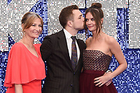 "Taron Egerton, Mum Christine and girlfriend Emily Thomas <br /> arriving for the ""Rocketman"" premiere in Leicester Square, London<br /> <br /> ©Ash Knotek  D3502  20/05/2019"