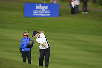 Jodi Ewart Shadoff of Team Europe on the 7th during Day 1 Foursomes at the Solheim Cup 2019, Gleneagles Golf CLub, Auchterarder, Perthshire, Scotland. 13/09/2019.<br /> Picture Thos Caffrey / Golffile.ie<br /> <br /> All photo usage must carry mandatory copyright credit (© Golffile | Thos Caffrey)