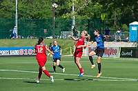 Kansas City, MO - Saturday May 13, 2017:  Lindsey Horan, Christine Sinclair, Yael Averbuch, Becky Sauerbrunn during a regular season National Women's Soccer League (NWSL) match between FC Kansas City and the Portland Thorns FC at Children's Mercy Victory Field.