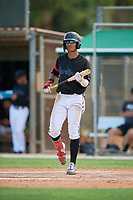 GCL Marlins Victor Mesa Jr. (9) at bat during a Gulf Coast League game against the GCL Astros on August 8, 2019 at the Roger Dean Chevrolet Stadium Complex in Jupiter, Florida.  GCL Marlins defeated GCL Astros 5-4.  (Mike Janes/Four Seam Images)