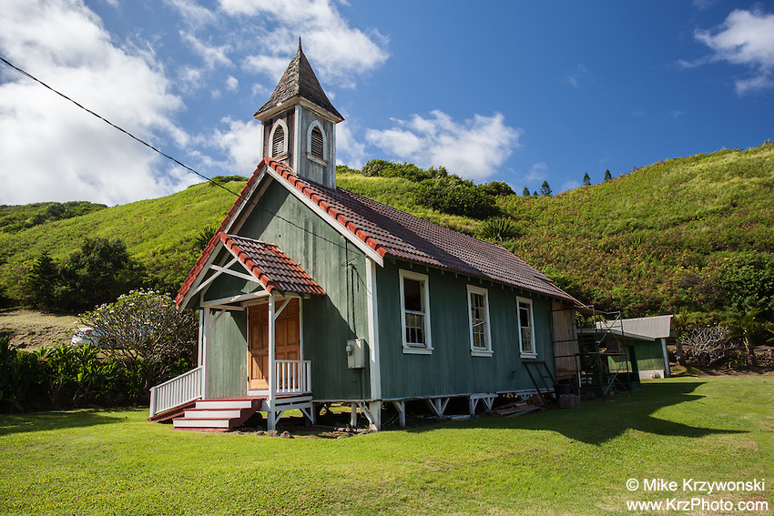 Kahakuloa Congregational Church in Old Kahakuloa Village, Maui