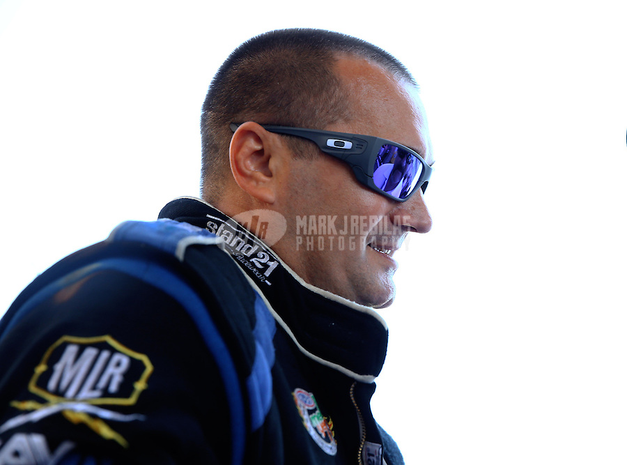 Jul. 21, 2013; Morrison, CO, USA: NHRA top fuel dragster driver Brandon Bernstein during the Mile High Nationals at Bandimere Speedway. Mandatory Credit: Mark J. Rebilas-